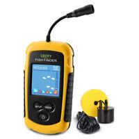 Portable 100M Color LCD Smart Fish Finder Depth Sonar Sensor Fishing Alarm Help