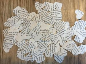 French Vintage Chic Wedding Table Confetti / Decor - Harry Potter Book In French