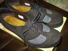 Naot Retro Black Gray  Woman's Leather  Oxford Size EU 39 US 8