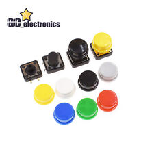Momentary Tactile Push Button Touch Micro Switch 4p Pcb Caps 12x12x73mm 12mm