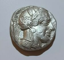 "XF. Ancient Athenian ""Owl"" Tetradrachm, 440-404 BC. Test cuts."