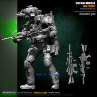 1/24 American Seal Assault Team Machine Gun Unpainted Model Kit YuFan Model GK