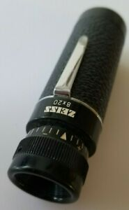 """Vintage ZEISS Monocular 8x20 West Germany 3.5"""" with Pocket Clip"""