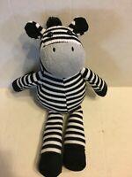 "GC Brands LLC Knit Black And White Zebra 15"" Plush Stuffed Animal"