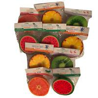 10 Piece Squeeze Squishy Sensory Toys Kids Stress Smoosh Splat Fruit Bright NEW