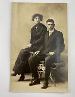 Vintage Post Card Photo 1920's Couple Original Unused