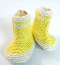 BABY GAP YELLOW & CREAM Babies knit warm booties Shoes $16 []