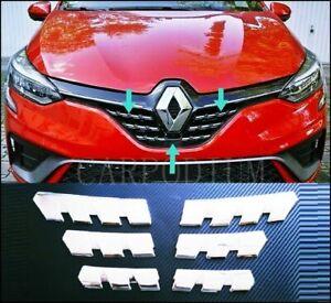 Pour Renault Clio V 2019+ HB Chrome Calandre 6 Pièce Acier INOXYDABLE