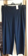 #G11 - Navy Pinstripe Wide Leg Trousers From TU - Size 22 - BNWT