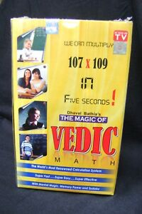THE MAGIC OF VEDIC MATHS Unique Ancient Hindu Maths Solving DVDs & Book Pack NEW