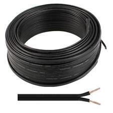 NEW 20 Meters 2x 4mm Black Speaker Audio Cable Loudspeaker Wire Car HiFi