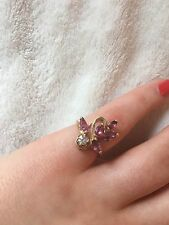 Natural ruby diamond 14k yellow gold ring  5 Grams Size 6.75