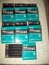 Lot of 7 boxes of Prang Payons water color crayons Nib unused