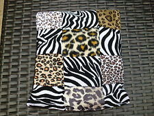 LEOPARD & ZEBRA PRINT LARGE PATCHWORK LAVENDER WHEAT BAG PAIN RELIEF RELAXATION