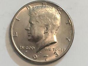1973 D Kennedy Half Dollar error coin reverse machine doubling America & Dollar