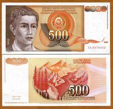 Yugoslavia, 500 Dinara, 1991, Pick 109, ZA UNC > Replacement
