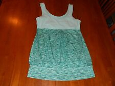 Xersion womens shirt size S small yoga athletic tank top MINT cond aqua