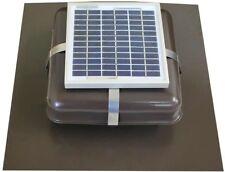 Solar Roof Vent - Solar Attic Fan - Solar RVOblaster with Brown Vent