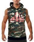 Men's Enjoy Christmas Santa Camo Sleeveless Vest Hoodie Ugly Sweater Holidays