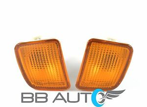LOWER FRONT BUMPER PARK SIGNAL LIGHT LAMP ASSEMBLY SET FOR 98-00 TOYOTA TACOMA