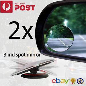 2x Blind Spot Car Rimless Mirror Frameless Glass Wide Angle Convex Mirrors