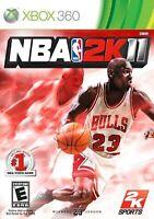 NBA 2K11 For Xbox 360 Basketball Very Good 6E