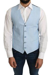 DOLCE & GABBANA Vest Blue Viscose Stretch Formal Coat s. IT48 / US38/M