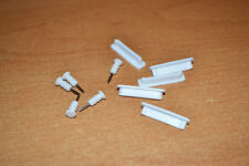 5 Sets White Anti-dust Dock Plug + 3.5mm Earphone Anti-Dust Cap for iPhone 4S