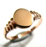 Kaedesigns New Genuine SMALL NEW 9CT 9K 375 ROSE GOLD OVAL SIGNET RING 342