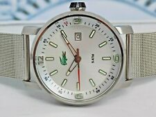 Lacoste Stainless Steel WR50M LARGE gents quartz watch. Genuine ex-display