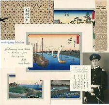 Japan, Farbholzschn. Watanabe: Tōto Hakkei, Botschafts-Geschenk, Autograph, 1926