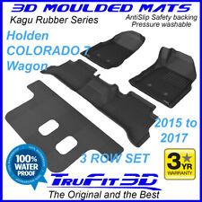 For Holden Colorado 7 Wagon 2015 -2017 Genuine 3D Black Rubber Car floor Mats 3R