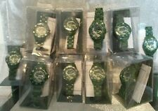 NEW Wholesale Job lot 10 Boys Green Camouflage Identity London Watches RRP £150