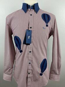 NWT NEW Harmont & Blaine Men's Narrow Fit Hot Air Balloon Shirt Sz Large L A4