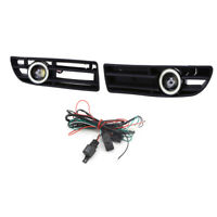 Car FOG Light Lamp Clear White Angel Eyes COB LED 12V for VW BORA MK4 1999-2004
