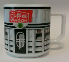 Square shaped Standing Ovations coffee/tea mug/cup red/white/black w/ diner pic