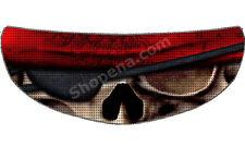 Skull Pirate Helmet Visor Sticker Skeleton Motorcycle Shield Decal Tint Eyes NEW