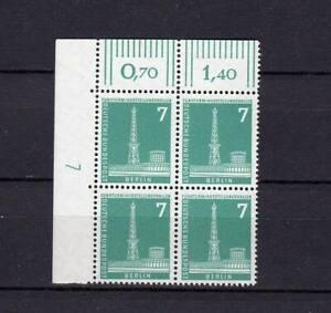 Berlin Mi. Nr. 142 OER 4er Block mit Nr. 7 postfrisch  - 1 -