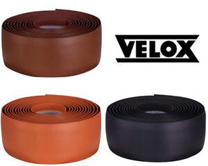 Velox Leather Look Classic Bar Tape in Black/Brown/Honey/White Road Bike