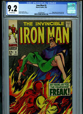 Iron Man # 3 CGC 9.2 NM- Marvel Comics 1968 Amricons K28
