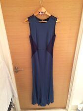 Bastyan Navy Blue  Pencil Cocktail Evening Dress Party Bridesmaid UK Size 10
