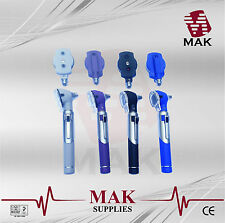 MAK LED FO Otoscope/Ophthalmoscope ENT Diagnostic Examination SET in 4 Colours