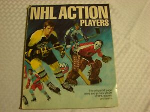 NHL ACTION PLAYERS THE OFFICIAL 96 PAGE WORD AND PICTURE ALBUM OF NHL 1974 1975