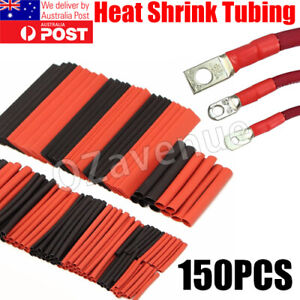 150 pcs Heat Shrink Tubing Tube Assortment Wire Cable Insulation Sleeving Kit AU