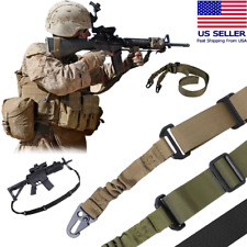 Tactical 2 Point Gun Sling Shoulder Strap Rifle Hunting Shotgun Belts Outdoor CS