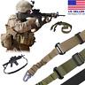 Tactical 2 Point Gun Sling Shoulder Strap Rifle Hunting Shotgun Belts Outdoor CS