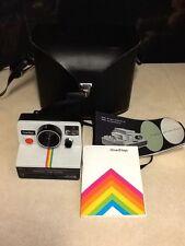 Vintage Polaroid SX-70 One Step White Rainbow Stripe Instant Land Camera