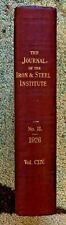 1926 Journal Iron Steel Institute Vintage Book Illustrated Metallurgy LLoyd Old
