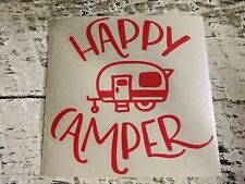 Custom Camping Vinyl Decal for Stainless Tumblers, Coffee Travel Cups, Mugs