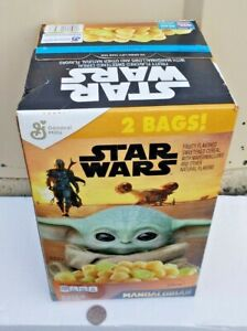 Star Wars The Mandalorian cereal box of 2 Disney Baby Yoda Grogu sealed exp 6/28